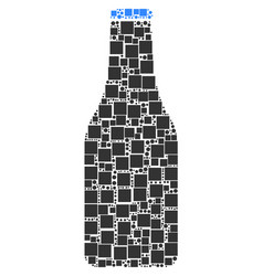 beer bottle composition of squares and circles vector image
