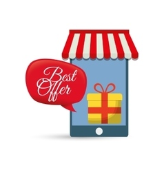 Best offer smartphone online gift vector