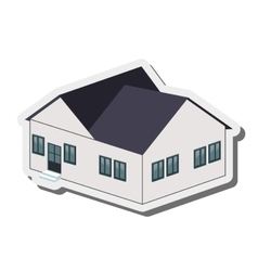 Big house icon vector