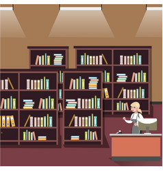 bookshelf in shop vector image