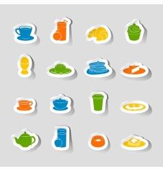 Breakfast icon sticker vector