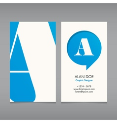 Business card template letter vector