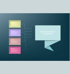 business data presentation infographic template vector image