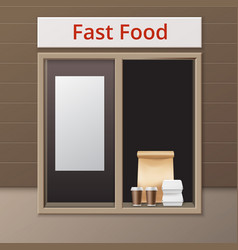 cafe take away window vector image