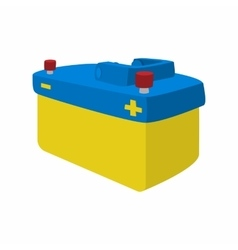 Car battery cartoon icon vector image
