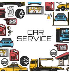 Car repair and service vector