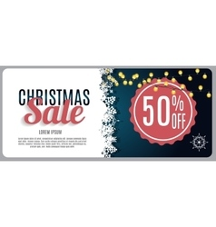 Christmas Sale Discount Voucher Banner Background vector image