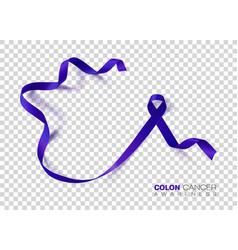Colon cancer awareness month dark blue color vector