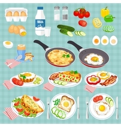 Colorful of food vector image