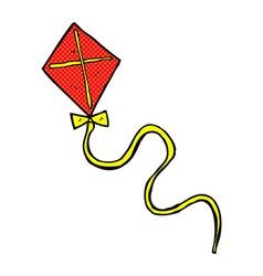 Comic cartoon flying kite vector