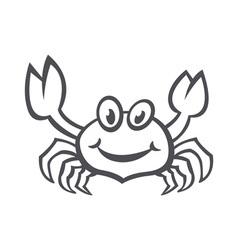 Crab sea food icon smile flat vector