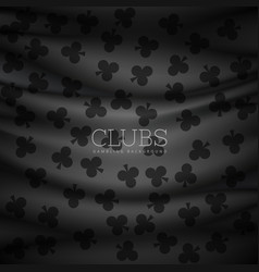 dark clubs pattern background printed on cloth vector image