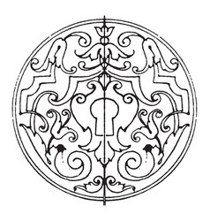 Decoration of escutcheons strap-work frame have vector