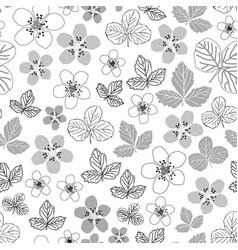 dewberry blooming-flowers in bloom seamless repeat vector image