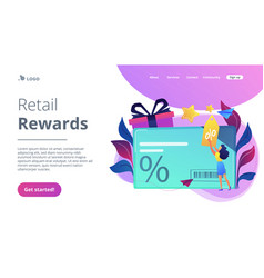Discount and loyalty card concept vector