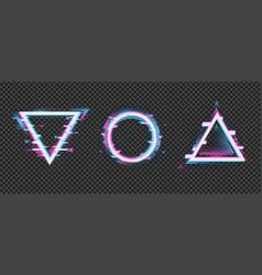 Distorted geometric frame color change crash vector