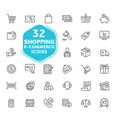 e-commerce online shopping and delivery element vector image