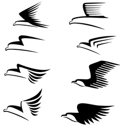 eagle sign vector image
