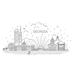 Georgia skyline composition for design vector