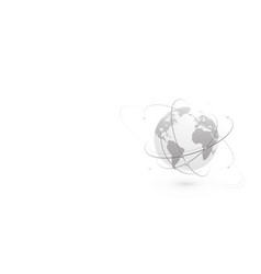 global network world concept banner vector image