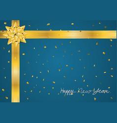 gold bow ribbon vector image