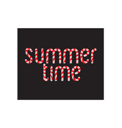 hand drawn typographic design summer time vector image