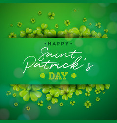 happy saint patricks day background design with vector image