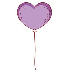 heart shaped balloon vector image
