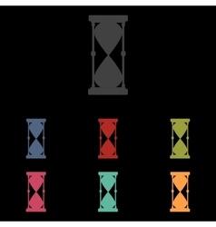 icons set on black background vector image