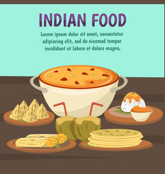 indian food background vector image