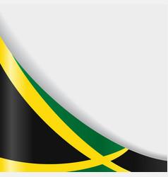 Jamaican flag background vector
