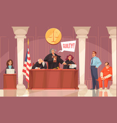 Justice court session composition vector