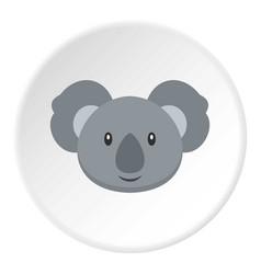 Koala icon circle vector