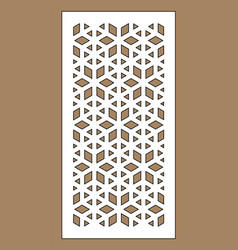 laser cutting template arabesque vector image