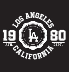 Los angeles california typography for t-shirt vector