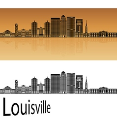 Louisville skyline in orange vector