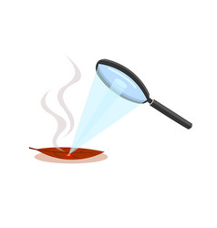 magnifying glass is combining light into one point vector image