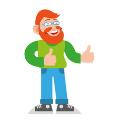 man hipster show like vector image