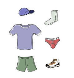 mens clothing vector image vector image