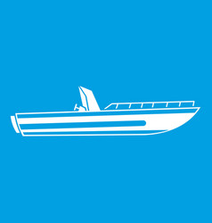 motor speed boat icon white vector image