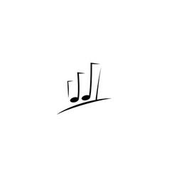 Musical chart logo design template vector