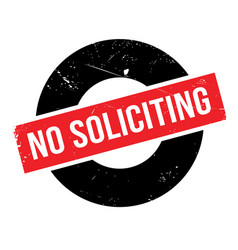 No soliciting rubber stamp vector
