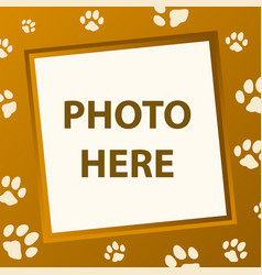 paw frame vector image