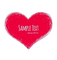 Pink Doodle Heart on White Background vector image