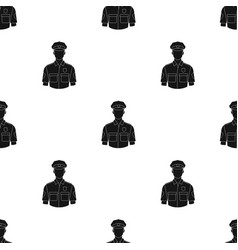 Policemanprofessions single icon in black style vector