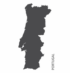 portugal silhouette map vector image