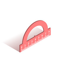 protractor ruler isometric icon vector image