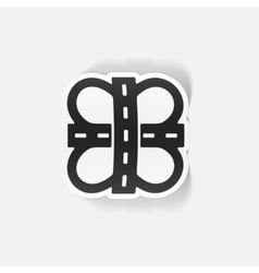 realistic design element road vector image