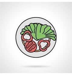 Salad flat color icon vector image
