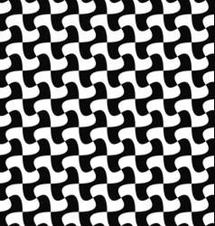 Seamless monochrome curved shape pattern design vector image